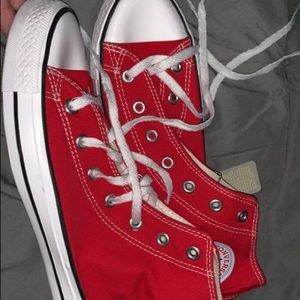 Red high top converse NWOT
